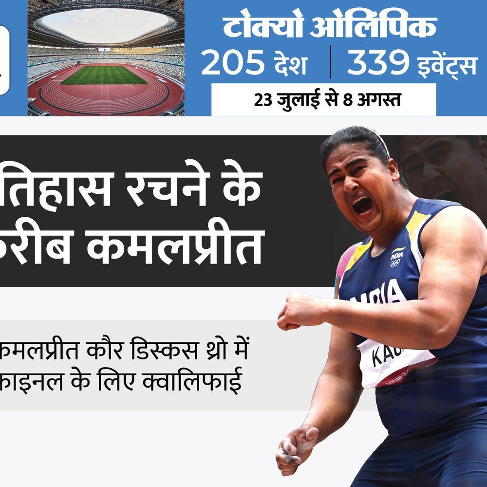 कमलप्रीत का मेडल पर फोकस:भारतीय डिस्कस थ्रोअर ने वीडियो कॉल के जरिए आज निजी कोच के साथ ट्रेंनिग की; कल फाइनल में उतरेंगी कमलप्रीत