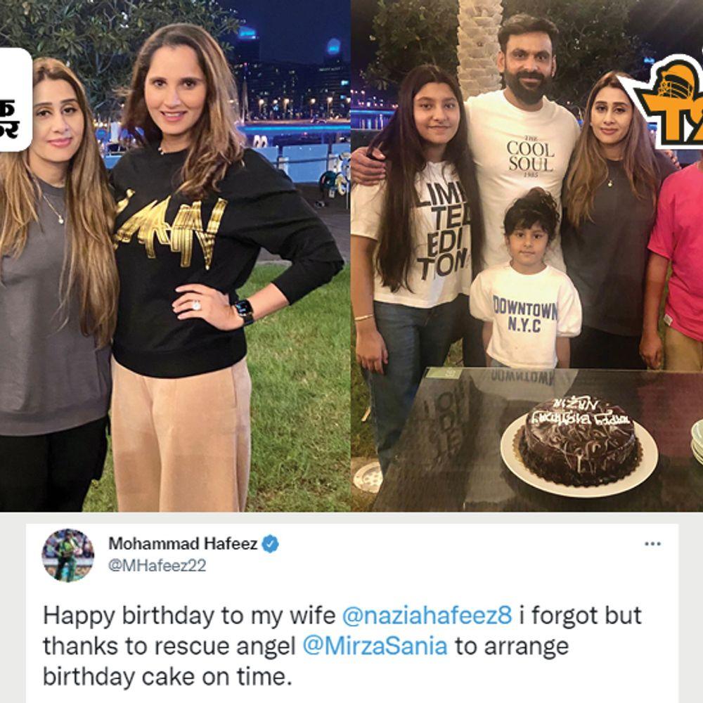 PAK खिलाड़ी ने सानिया मिर्जा को बताया 'देवदूत':सोशल मीडिया पर कहा- स्पेशल थैंक्स, भूल गए थे बीवी का बर्थडे