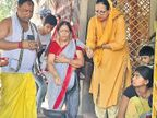 धौनी की मां ने की टीम इंडिया की जीत के लिए प्रार्थना, दिउड़ी पहुंचकर माता से मांगा आशीर्वाद|रांची,Ranchi - Dainik Bhaskar