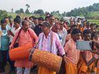 आदिवासियों के साथ मांदर की थाप पर थिरके भरतपुर सोनहत विधायक गुलाब कमरो बिलासपुर,Bilaspur - Dainik Bhaskar
