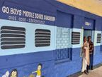 ट्रेन की बोगी नहीं स्कूल है; शिक्षक ने दिया नया रूप, बच्चों को आकर्षित करने के लिए भवन की रंगाई-पुताई अलग ढंग से कराई|भोपाल,Bhopal - Dainik Bhaskar