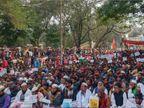 एनआरसी व सीएए के विरोध में राजभवन के समक्ष दिया महाधरना, लगा जाम|रांची,Ranchi - Dainik Bhaskar