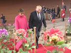 अमेरिका रवाना होने से पहले ट्रम्प-मेलानिया का राष्ट्रपति भवन में डिनर, मेहमानों को अंजीर मलाई कोफ्ता और मालपुआ रबड़ी रोल परोसा गया| - Dainik Bhaskar