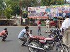दुकानों पर सोशल डिस्टेंसिंग के लिए गोले बनाए गए,  मथुरा से मालगाड़ी पर चढ़े लोगों को ग्वालियर में उतारा गया|भोपाल,Bhopal - Dainik Bhaskar