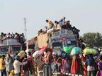 झांसी की सीमाएं सील, 1065 गांवों में पहुंचने के लिए पैदल निकले 1 लाख से ज्यादा मजदूर|झांसी,Jhansi - Dainik Bhaskar