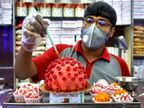 कोलकाता के हलवाई ने वायरस जैसी दिखने वाली 'कोरोना संदेश' मिठाई बनाई, जागरुक करने के लिए मुफ्त बांट रहे|लाइफ & साइंस,Happy Life - Dainik Bhaskar