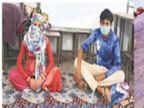 फैक्ट्री बंद हुई तो 5 माह की गर्भवती भीलवाड़ा से पैदल ही यूपी के लिए निकली, ढाई दिन में जयपुर पहुंची, अब शेल्टर होम में मिली जगह जयपुर,Jaipur - Dainik Bhaskar