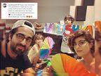 आयुष्मान और ताहिरा ने लॉकडाउन में बेटी का जन्मदिन बनाया यादगार, वेस्ट मेटरियल से बनाया सजावट का सामान|बॉलीवुड,Bollywood - Dainik Bhaskar