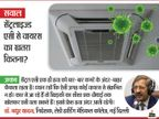 सेंट्रलाइज्ड एसी से वायरस का खतरा कितना? एक्सपर्ट का जवाब - यह एक ही हवा बार-बार फेंकता है,संक्रमण रोकने के लिए बाहर से फ्रेश हवा आना जरूरी|वैक्सीन ट्रैकर,Coronavirus - Dainik Bhaskar
