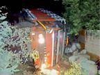इंदौर से ललितपुर जा रहा मिनी ट्रक पलटा, 6 मजदूर घायल, दो गंभीर|रायसेन,Raisen - Dainik Bhaskar