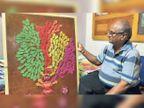 लॉकडाउन ने घर में कैद किया तो 62 वर्षीय बुजुर्ग ने पेड़ की शाखा के जरिये चित्रों के रूप में उकेर दिया 400 साल पुराना वंश वृक्ष|अजमेर,Ajmer - Dainik Bhaskar