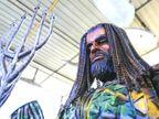 कबाड़ से तैयार हुए नायाब एक्वामैन, स्पाइडरमैन और थानोस को देखने पहुंचने लगे बच्चे|लाइफ & साइंस,Happy Life - Dainik Bhaskar