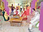 शादी अब 60 हजार से 1 लाख के पैकेज में वरमाला और मंडप भी कर रहे सैनिटाइज|रायपुर,Raipur - Dainik Bhaskar
