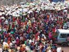 तीन श्रमिकों ट्रेनों से ईंट-भट्ठा मजदूर बिहार रवाना, सोशल डिस्टेंसिंग की उड़ी धज्जियां तो हाथरस सांसद बोले- जहां भीड़ और जगह कम, वहां टूटेंगे नियम|उत्तरप्रदेश,Uttar Pradesh - Dainik Bhaskar