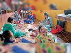 चाइनीज राखी को मात देंगी चावल, गेहूं से सजी राखियां|कोरबा,Korba - Dainik Bhaskar