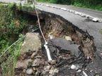 धर्मशाला-मैक्लोडगंज सड़क मार्ग क्षतिग्रस्त, लगातार हो रहे भूस्खलन से हो सकता बड़ा हादसा हिमाचल,Himachal - Dainik Bhaskar