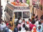 कानपुर में भैरवघाट पर हुआ अंतिम संस्कार, परिजनों को दूर से ही कराया गया पार्थिव शरीर के अंतिम दर्शन