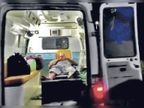 काेविड हॉस्पिटल पहुंच भर्ती हाेने के लिए एंबुलेंस में घंटाें इंतजार करते रहे संक्रमित