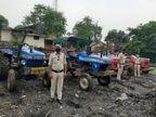 अवैध रूप से रेत खनन कर ले जाते पांच ट्रैक्टर जब्त, पुलिस को देख भागे माफिया; टैंकर से डीजल चोरी करते एक गिरफ्तार छत्तीसगढ़,Chhattisgarh - Dainik Bhaskar