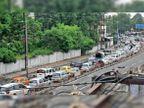 लॉकडाउन में सड़कों पर उतरे वाहन 8 इलाकों में दो घंटे ट्रैफिक जाम