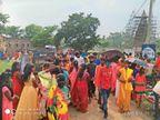 श्रावणी पूर्णिमा पर उमड़ी भीड़... ऊंटारी रोड सिद्धपीठ शिव संपत धाम में सोशल डिस्टेंसिंग के साथ भक्तों ने की पूजा