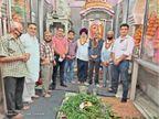 गुरु बाजार मंदिर बाल माता में महारुद्रा पाठ करवाया