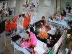 कोरोना वार्ड में बिस्तर के पास ही सूख रहे मरीजों के कपड़े, ये हालात वहां जहां बच्चे भी हैं भर्ती