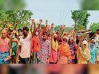 बिजली समस्या को लेकर ग्रामीणों ने किया प्रदर्शन
