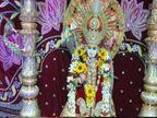 मथुरा के श्रीकृष्ण जन्मभूमि मंदिर में कान्हा के हाथों में बांसुरी की जगह धनुष-बाण सजा|उत्तरप्रदेश,Uttar Pradesh - Dainik Bhaskar