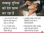 दुनियाभर में धुआंरहित तम्बाकू से 7 साल में मौत का आंकड़ा 3 गुना बढ़ा, इसके सबसे ज्यादा 70 फीसदी रोगी भारत में लाइफ & साइंस,Happy Life - Dainik Bhaskar