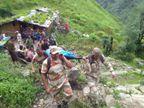 आईटीबीपी जवान महिला को स्ट्रेचर पर लेकर 15 घंटे तक बाढ़ वाले इलाकों में 40 किलोमीटर तक चले, जान बचाई|देश,National - Dainik Bhaskar