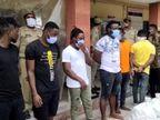 ग्रेटर नोएडा में रेव पार्टी कर रहे 4 युवतियों समेत 11 विदेशी नागरिक गिरफ्तार; 290 बीयर व शराब की बोतलें बरामद|उत्तरप्रदेश,Uttar Pradesh - Dainik Bhaskar