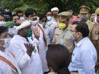 कांग्रेस प्रदेश अध्यक्ष लल्लू को बाराबंकी में पुलिस ने हिरासत में लिया, अफसरों से हुई नोकझोंक; किसानों से मिलने जा रहे थे|उत्तरप्रदेश,Uttar Pradesh - Dainik Bhaskar