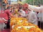 327 आरपी रेजीमेंट के गनर भूपेंद्र बारामुला के नौगांव हरदोई सेक्टर में दुश्मनों से लोहा लेते शहीद हुए हरियाणा,Haryana - Dainik Bhaskar