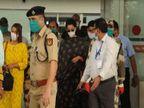 मुंबई से 6 दिन बाद लौटी अभिनेत्री कंगना, एयरपोर्ट पर फैंस का अभिवादन किया और हिमाचल रवाना हो गई|चंडीगढ़,Chandigarh - Dainik Bhaskar