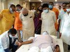 काशी में ब्लड डोनेट करने से बचते नजर आए भाजपा के बड़े पदाधिकारी; अलीगढ़ में भाजयुमो ने 60 से अधिक यूनिट रक्तदान किया|उत्तरप्रदेश,Uttar Pradesh - Dainik Bhaskar