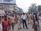 जबरदस्ती कोरोना जांच कराने को लेकर भड़के मजदूरों का हंगामा; सड़क पर लगाया जाम, पुलिस ने हल्का बल प्रयोग कर हटाया|झारखंड,Jharkhand - Dainik Bhaskar