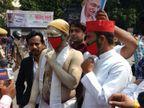 लखनऊ में सपा कार्यकर्ताओं पर लाठीचार्ज, 30 विधायकों को जबरन इको गार्डेन में छोड़ा, मुरादाबाद में कांग्रेस जिलाध्यक्ष ने आत्मदाह की कोशिश की उत्तरप्रदेश,Uttar Pradesh - Dainik Bhaskar