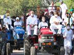 राहुल को हरियाणा में एंट्री से रोका गया तो धरने पर बैठे, कहा- 5 हजार घंटे यहीं इंतजार करूंगा; फिर 100 कार्यकर्ताओं के साथ जाने की मंजूरी मिली|हरियाणा,Haryana - Dainik Bhaskar