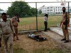 अलीगढ़ मुस्लिम यूनिवर्सिटी के एथलेटिक्स ग्राउंड में चली गोली, पूर्व छात्र की हत्या, दो युवकों को हिरासत में लिया गया|उत्तरप्रदेश,Uttar Pradesh - Dainik Bhaskar