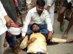 पूर्व मंत्री ओमप्रकाश राजभर के खिलाफ क्षत्रिय समाज के नेताओं ने प्रदर्शन किया; यूथ प्रेसीडेंट को पुलिस ने हिरासत में लिया|उत्तरप्रदेश,Uttar Pradesh - Dainik Bhaskar