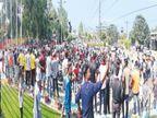हाथरस कांड पर संत समाज और स्कॉलरशिप घोटाले को लेकर भाजपा का सरकार के खिलाफ प्रदर्शन|जालंधर,Jalandhar - Dainik Bhaskar
