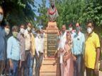 भाजपा कार्यकर्ताओं, लोकतंत्र सैनानियों और महिला माेर्चा ने भी राजमाता सिंधिया को श्रद्धांजलि देकर याद किया|जोधपुर,Jodhpur - Dainik Bhaskar