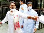 नामांकन के लिए मात्र 15 मिनट तक था शुभ मुहूर्त, मंत्री सिलावट तेजी से आए और तीन लोगों के साथ जाकर भर दिया फाॅर्म|इंदौर,Indore - Dainik Bhaskar