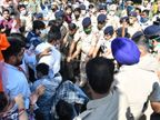 पोस्ट मैट्रिक स्कॉलरशिप स्कैम की जांच को लेकर एबीवीपी सदस्य विधानसभा की ओर निकले, पुलिस ने बैरिकेड लगा रोके|चंडीगढ़,Chandigarh - Dainik Bhaskar