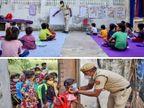 ऑनलाइन पढ़ाई से वंचित बच्चों के लिए दिल्ली पुलिस में कॉन्सटेबल थान सिंह ने शुरू की क्लास, बीते 10 साल से झुग्गियों में रहने वाले बच्चों को दे रहे मुफ्त शिक्षा|करिअर,Career - Dainik Bhaskar