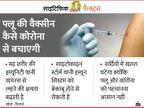फ्लू की वैक्सीन कोरोना से संक्रमण का खतरा 39% तक घटा सकती है, अलर्ट रहें क्योंकि सर्दी में फ्लू और कोरोना दोनों का खतरा|लाइफ & साइंस,Happy Life - Dainik Bhaskar