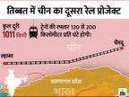 अरुणाचल के पास एक और रेल लाइन बिछाने की तैयारी में चीन, 200 किमी प्रति-घंटे की रफ्तार से दौड़ेंगी ट्रेनें|विदेश,International - Dainik Bhaskar