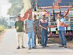20 के नोट के कोड से हो रही थी तस्करी, 7 ट्रकों में भरा 1.75 कराेड़ का कोयला निरसा में जब्त, आसनसाेल से यूपी की मंडियों में भेजा जा रहा था काेयला|निरसा,Nirsa - Dainik Bhaskar