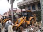 प्रयागराज में विधायक विजय मिश्रा का तीन मंजिला घर ढहाया गया; नक्शा पास नहीं था|इलाहाबाद,Allahabad - Dainik Bhaskar